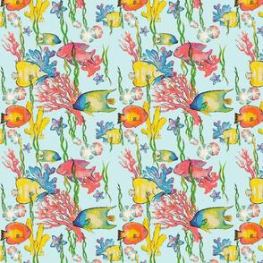 Watercolor Fish - Vibrant