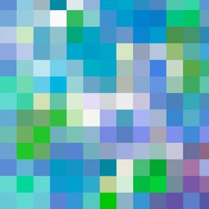 Mosaic (Blue) 20inch repeat, David Rose Designs