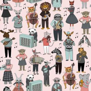 LARGE - Musical Animal Alphabet - Pink