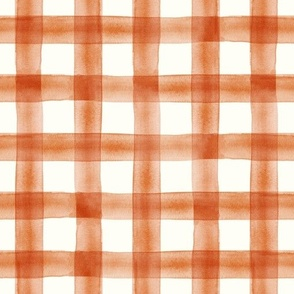 Pumpkin Spice watercolor plaid - fall - thanksgiving  - LAD19