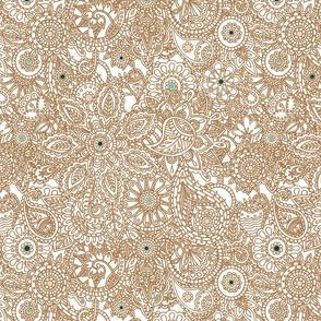 Floral Paisley Print