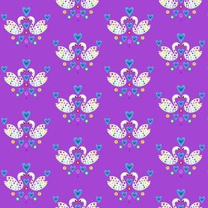 Swan Flower on Purple