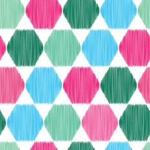 Hand drawn hexagon graphic seamless pattern.