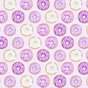 Iced Donuts Purple on pale purple - small scale