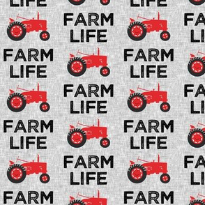 Farm Life - Tractor red - LAD19