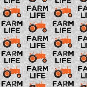 Farm Life - Tractor orange - LAD19