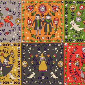 Halloween Squares 12x12 inch size