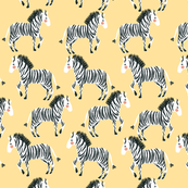 Zebra Yellow Large