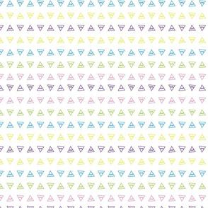 Wild Girl multi-color triangles