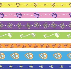 Girl Wild fun stripe pattern