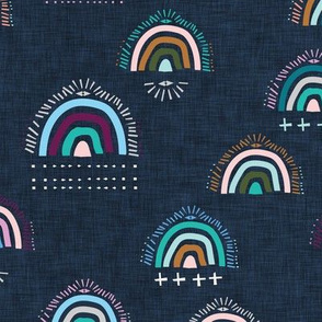 Pop Moroccan  Rainbow (navy) MED