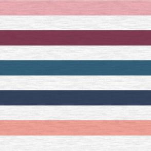 "Pink Plum Vintage Stripe(A)-1"""