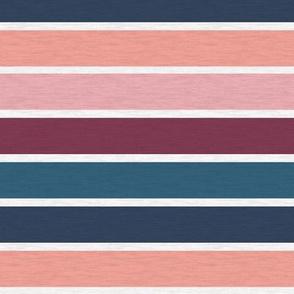 "Pink Plum Vintage Stripe (B) - 1"""