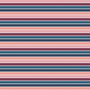 "Pink Plum Vintage Stripe (B) - 1/2"""