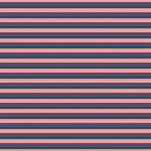 "Pink Plum Vintage Stripe (C) - 1/4"""