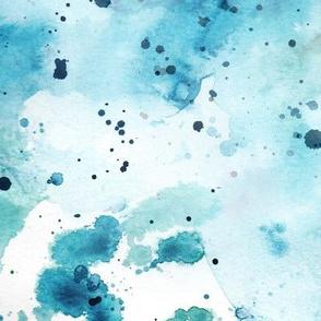 Watercolour Wash #9 - blue & green
