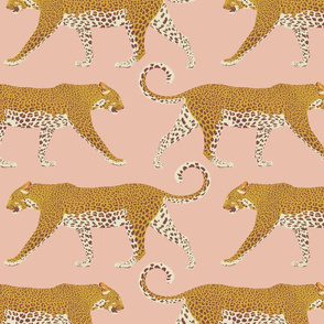 Leopards in pink - large
