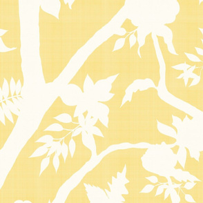 Custom Yellow Peony Branch Silhouette for Katy