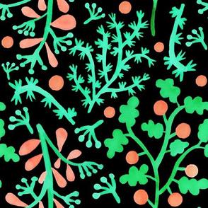Lime dream leaf on black