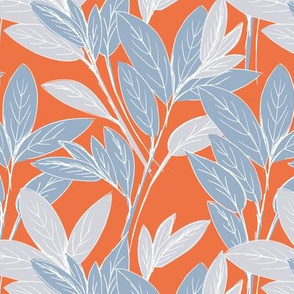 Lush leaves autumn tree leaf garden vibes and fall dreams orange blue