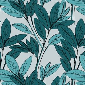 Lush leaves autumn tree leaf garden vibes and fall dreams blue