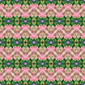 Soft Pink & Green Zigzags