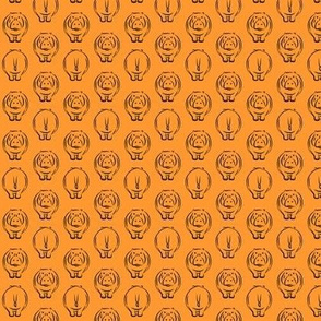"(3/4"" scale) hippos on orange LAD19BS"