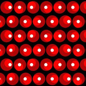 Roller Coaster Polka Dots - Large Dots