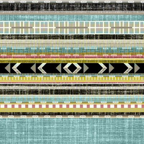Aztec Linen Stripe adjusted  for Morgan