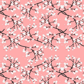 Snow White Blossom Lace - salmon pink