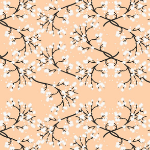 Snow White Blossom Lace - sandy beige