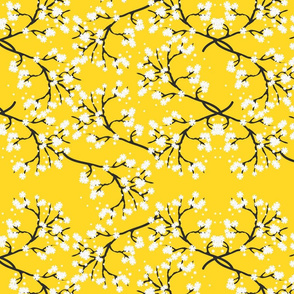 Snow White Blossom Lace - saffron yellow
