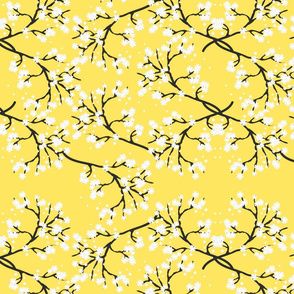 Snow White Blossom Lace - yellow