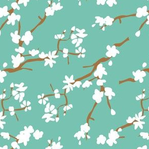 Blooming apple branches | Spearmint