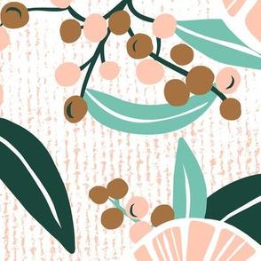 Madelyn - White Botanical Floral Jumbo Scale