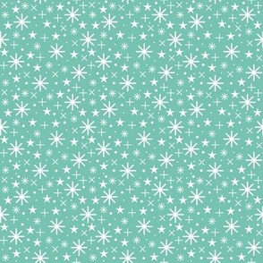 starry sky  | white on spearmint
