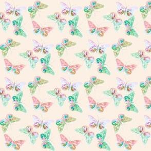 butterfly multi peach mini