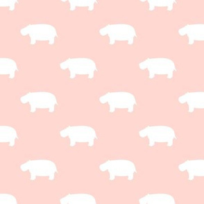hippos - hippopotamus cute - pink - LAD19