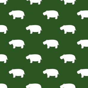 hippos - hippopotamus cute - green - LAD19