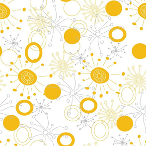 Bright Abstract  Bursts and Circles