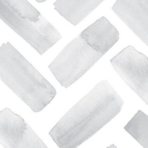 (jumbo scale) watercolor herringbone - grey C19BS