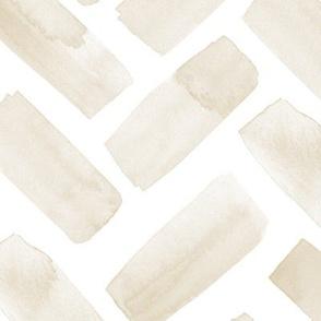 (jumbo scale) watercolor herringbone - tan C19BS