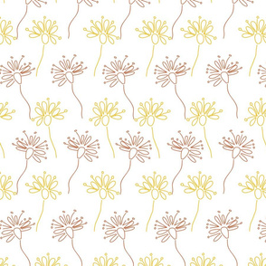 Flower doodles in a row