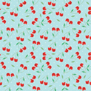 CHERRY CATS DOTS