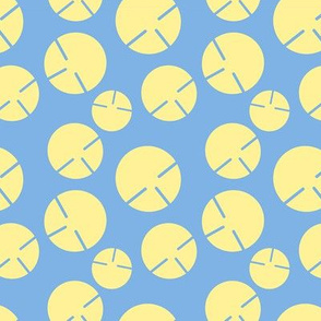 Geo-summer-yellow-circles-on-blue