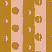 moon abstract - golden terracotta