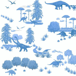Toile de Dinosaur, Delft Blue