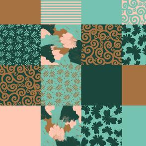 Limited color palette cheater quilt