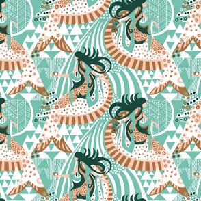 Seated Mermaid_on Spearmint_Limited Colour