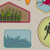 Julie's Hiking Badges in Beige